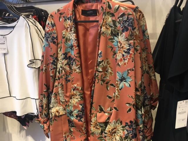 2 piece suit zara floral