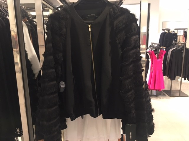 black bicker style jacket zara